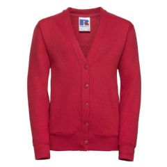 NOSS PRIMARY SCHOOL CLASSIC RED CARDIGAN WITH LOGO